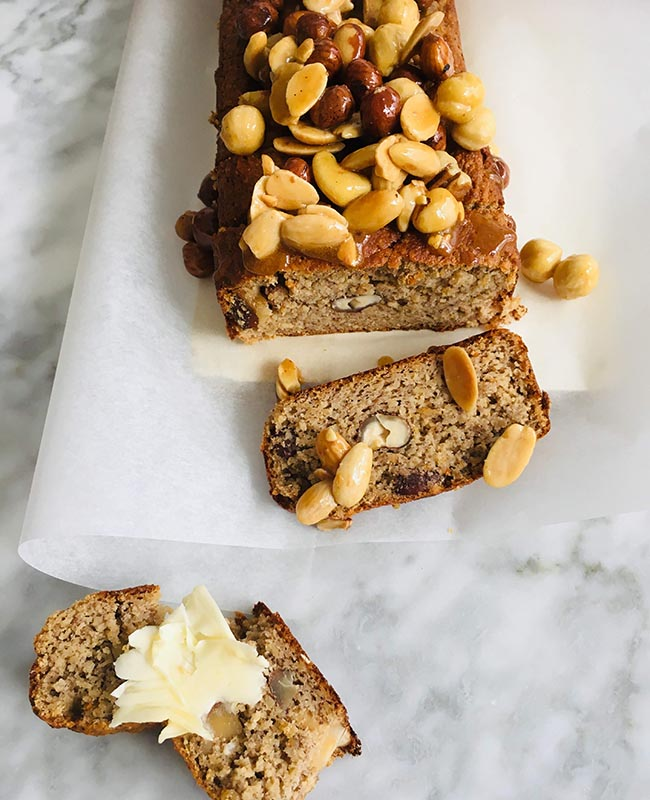 Noten bananenbrood recept